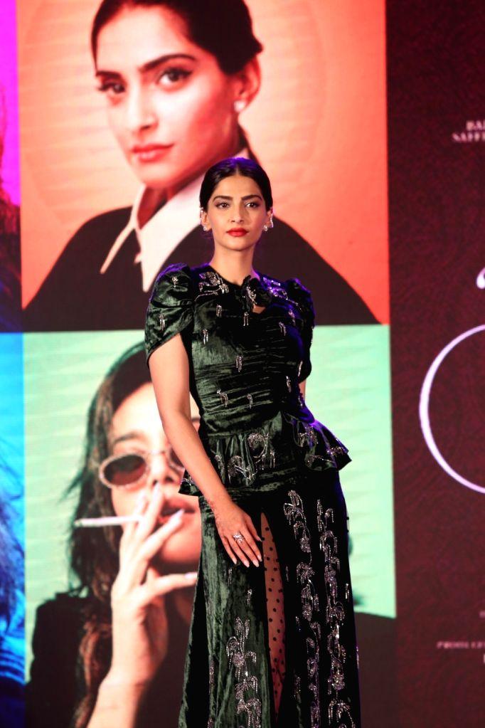 "Actress Sonam Kapoor Ahuja at the music launch of her upcoming film ""Veere Di Wedding"" in Mumbai on May 22, 2018. - Sonam Kapoor Ahuja"