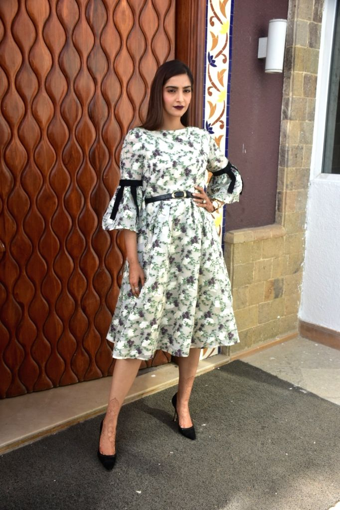 "Actress Sonam Kapoor Ahuja during the media interaction of her upcoming film ""Veere Di Wedding"" in Mumbai on May 21, 2018. - Sonam Kapoor Ahuja"