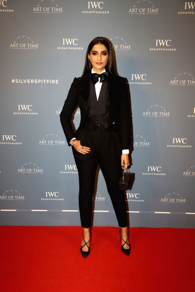 Actress Sonam Kapoor at the launch of a new collection of IWC Schaffhausen watches, in Mumbai on Oct 10, 2019. - Sonam Kapoor