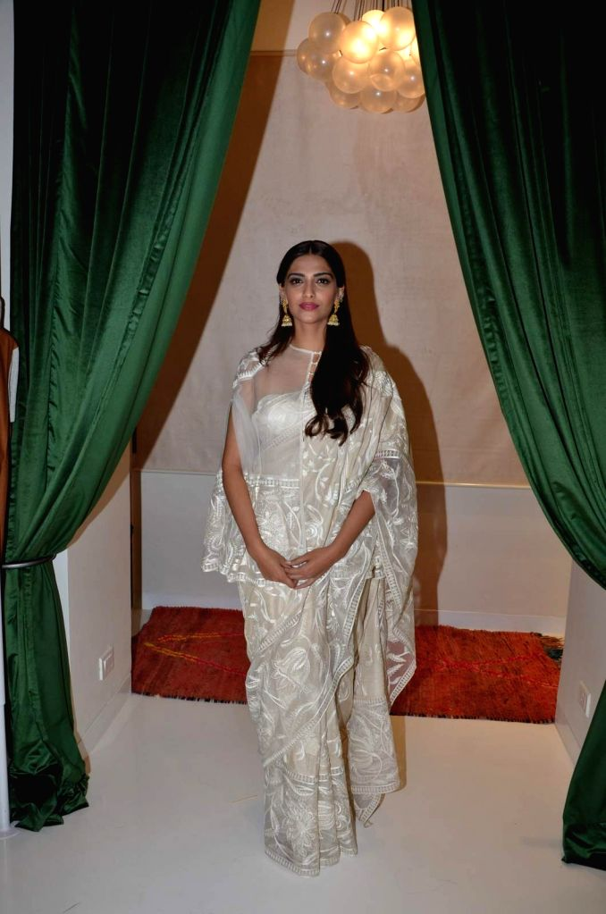 Actress Sonam Kapoor during the launch of Le Mill`s new store in Mumbai on Oct 24, 2015.
