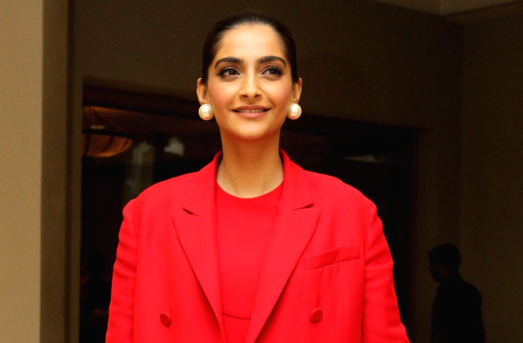 "Actress Sonam Kapoor during the promotions of her upcoming film ""The Zoya Factor"" in Mumbai on Sep 7, 2019. - Sonam Kapoor"