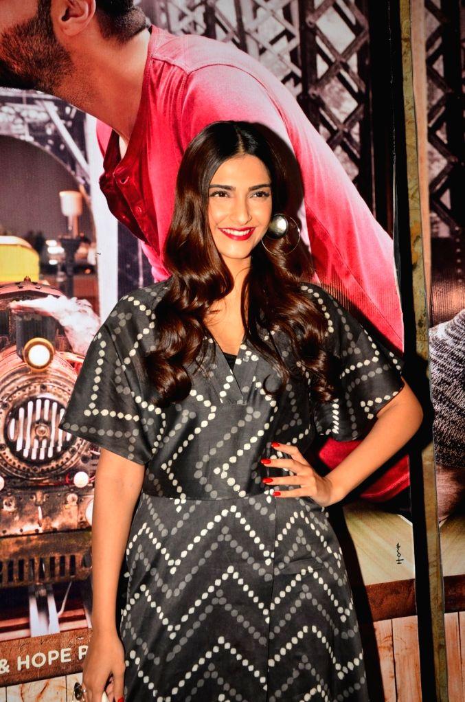 Actress Sonam Kapoor during the screening of film Ki & Ka, in Mumbai, on March 29, 2016. - Sonam Kapoor