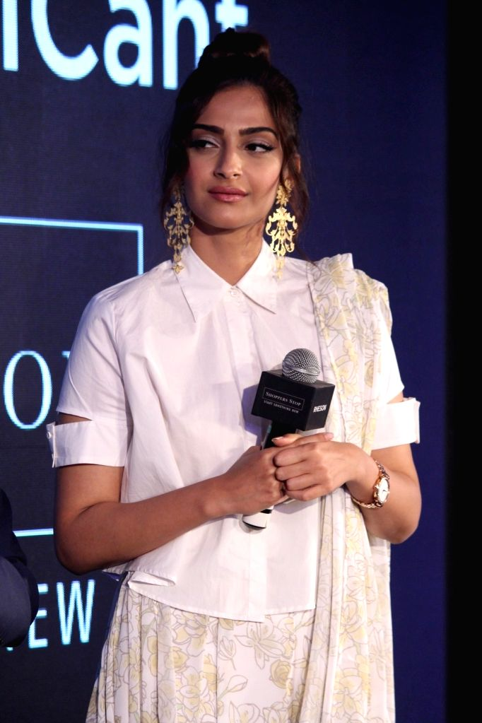 Actress Sonam Kapoor during the showcase of clothing brand Rheson in Mumbai on May 16, 2017. - Sonam Kapoor