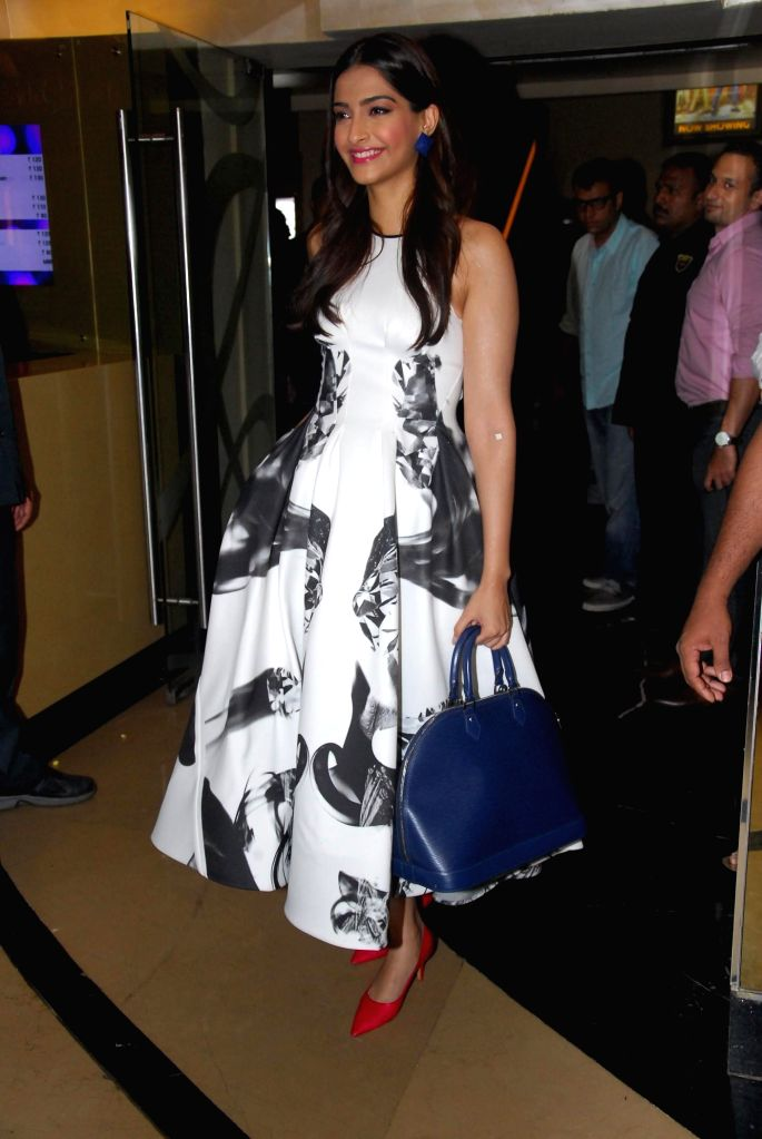 Actress Sonam Kapoor during the trailer launch of film Khoobsurat in Mumbai on July 21, 2014. (Photo : IANS) - Sonam Kapoor