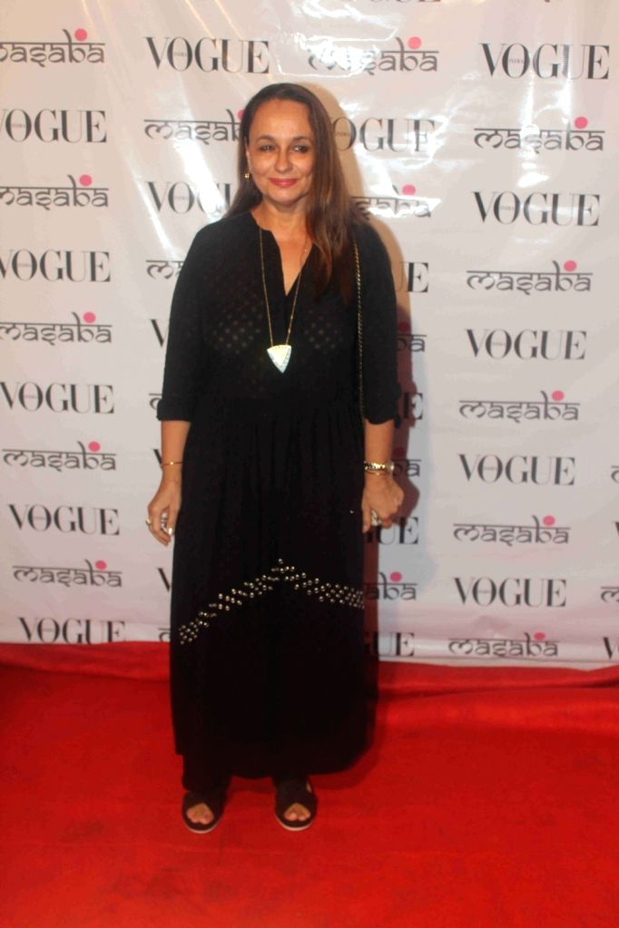 Actress Soni Razdan during the launch of festival collection by designer Masaba Gupta in Mumbai on Aug 20, 2016. - Soni Razdan and Masaba Gupta
