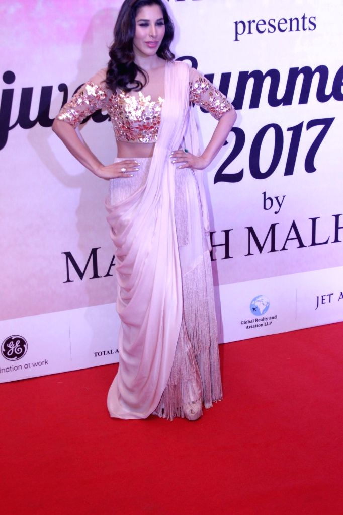Actress Sophie Choudry during the Mijwan Summer 2017 fashion show during the Mijwan Summer 2017 fashion show in Mumbai on March 5, 2017. - Sophie Choudry