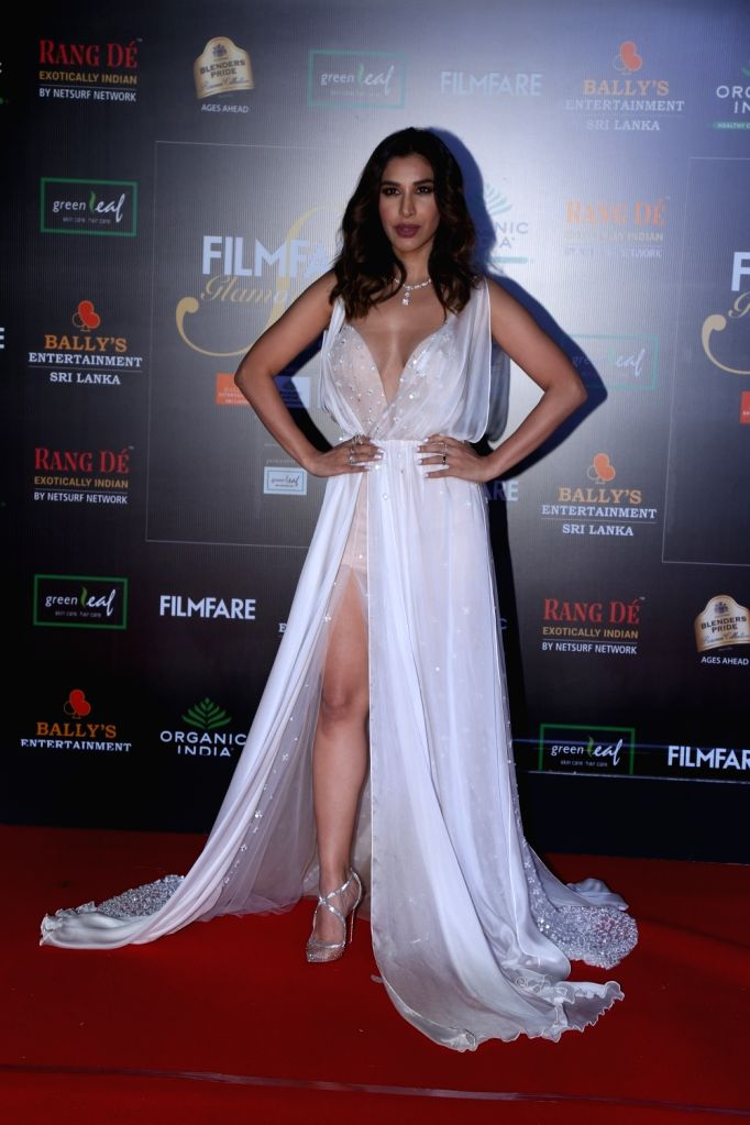 Actress Sophie Choudry on the red carpet of Filmfare Glamour And Style Awards 2019 in Mumbai on Dec 3, 2019. - Sophie Choudry