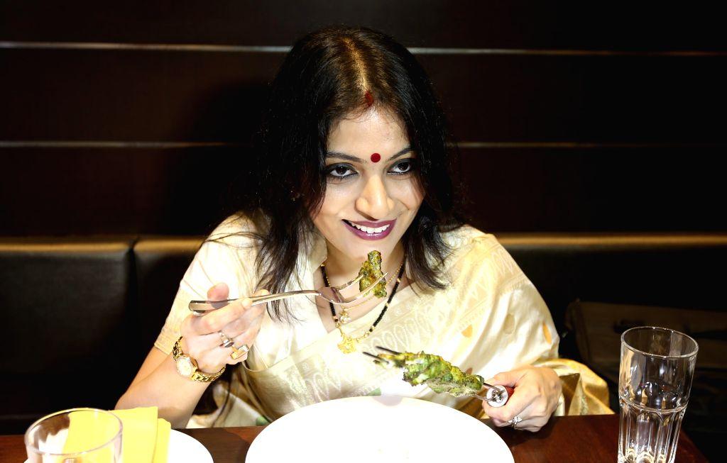 Actress Soumili Sen during launch of a restaurant in Kolkata on July 22, 2014. - Soumili Sen