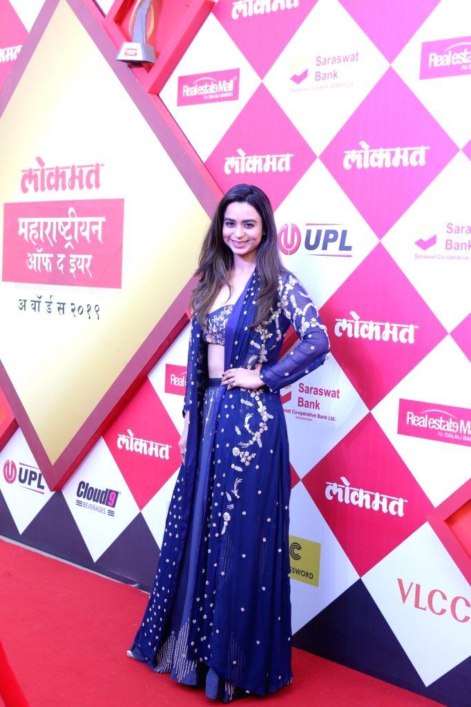 Actress Soundarya Sharma at the Lokmat Maharashtrian of the year Awards 2019 in Mumbai, on Feb 20, 2019. - Soundarya Sharma