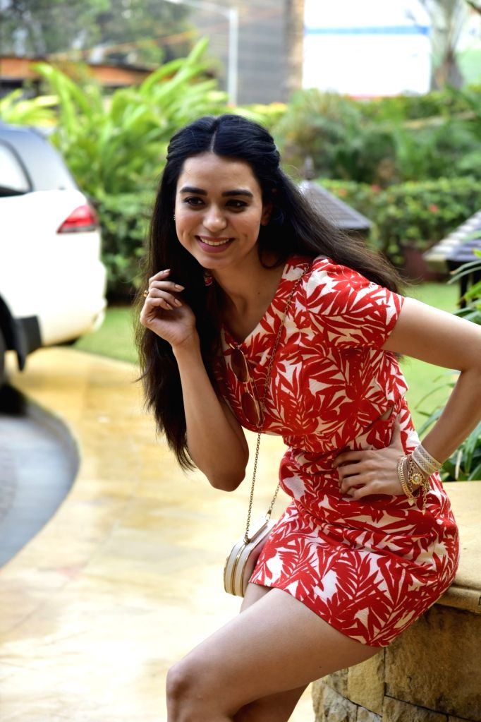 Actress Soundarya Sharma during a photoshoot in Mumbai on Feb 14, 2018. - Soundarya Sharma