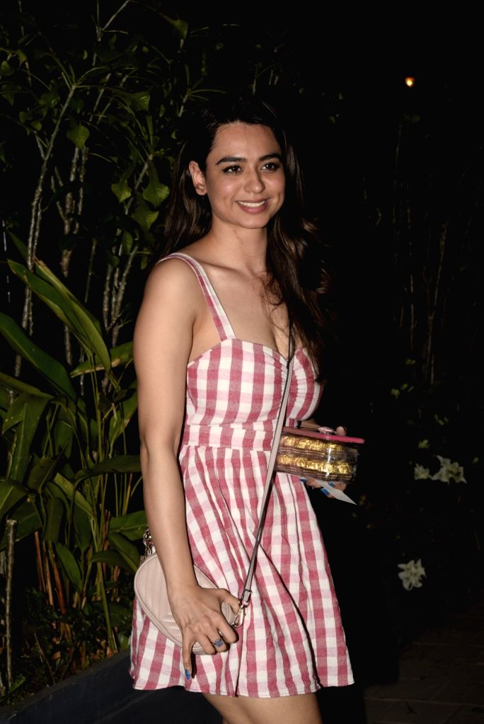 Actress Soundarya Sharma seen outside a club in Mumbai's Juhu, on Feb 14, 2019. - Soundarya Sharma