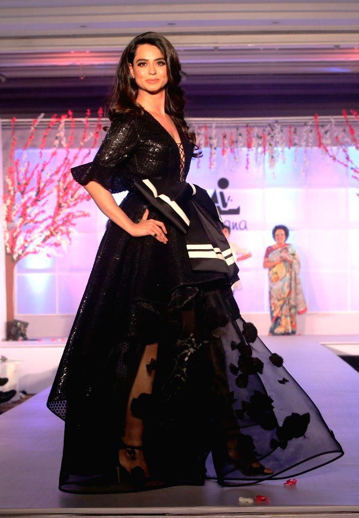 "Actress Soundarya Sharma walks the ramp at ""Unity in Diversity"" - FDCI's annual fashion show in New Delhi on Sept 16, 2018. - Soundarya Sharma"