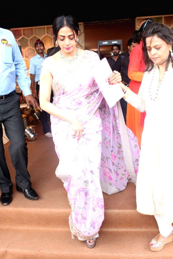 Actress Sridevi during a programme in Mumbai on Aug 17, 2017. - Sridevi