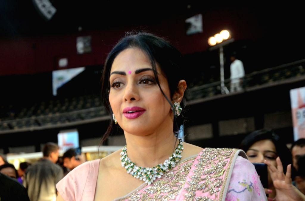 Actress Sridevi during the inauguration of Women Entrepreneurs Exhibition in Mumbai on Aug 17, 2017. - Sridevi