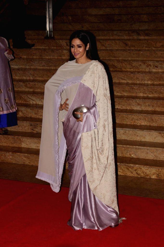 Actress Sridevi during the Mijwan Summer 2017 fashion show during the Mijwan Summer 2017 fashion show in Mumbai on March 5, 2017. - Sridevi