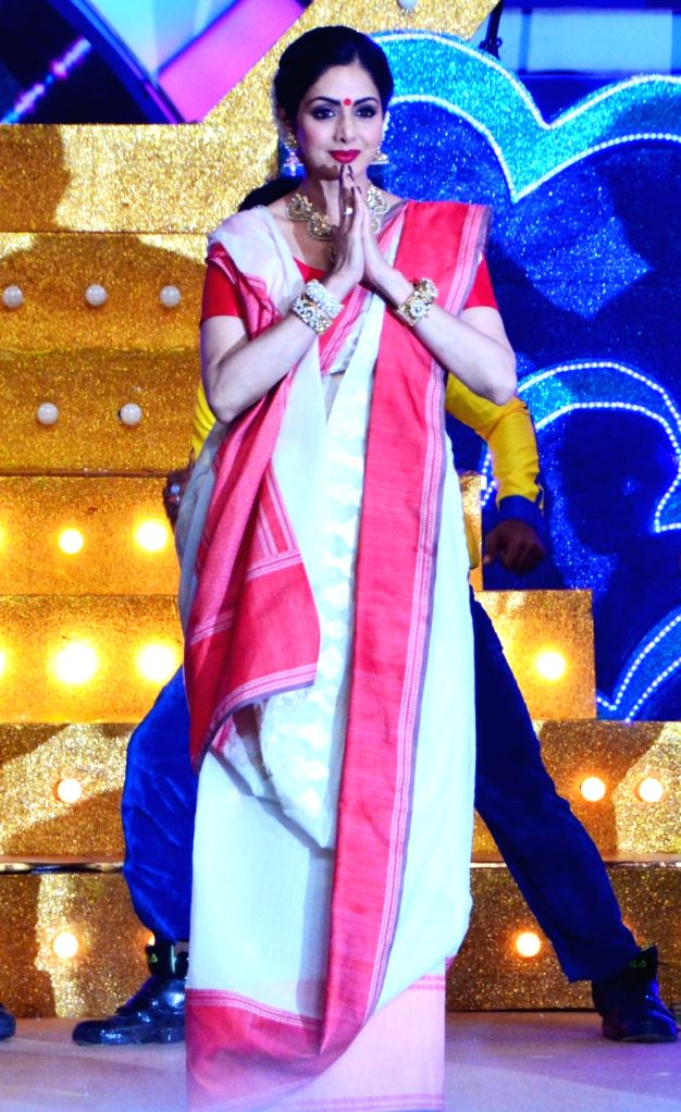 "Actress Sridevi on the sets of television show ""DADAGIRI"" in New Delhi, on June 28, 2017. - Sridevi"