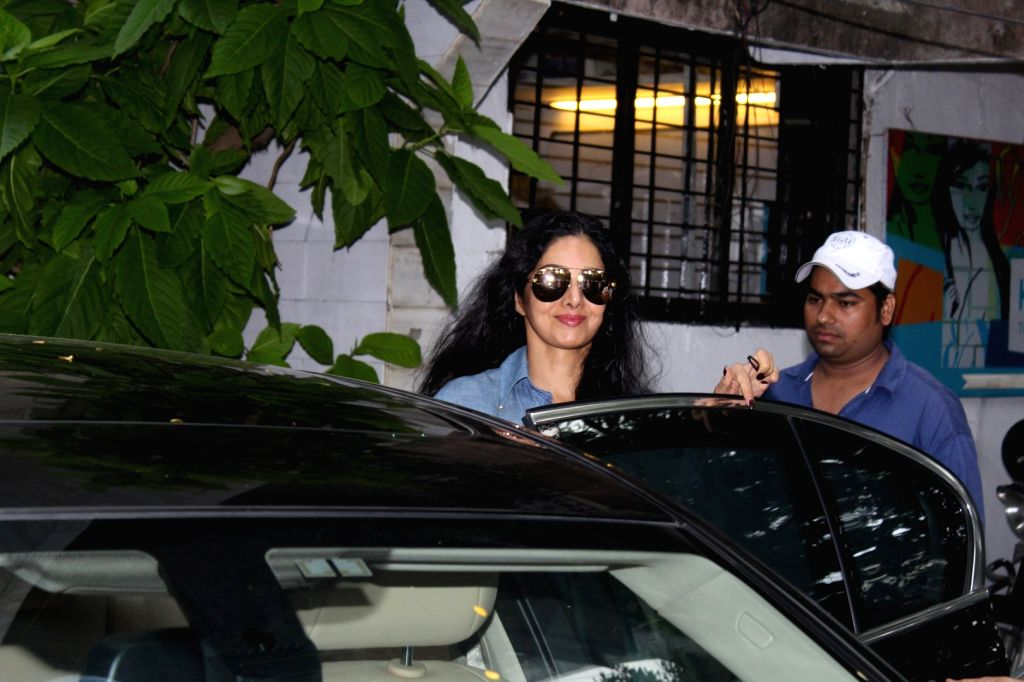 Actress Sridevi Spotted at a Mumbai salon on July 6, 2017. - Sridevi Spotted