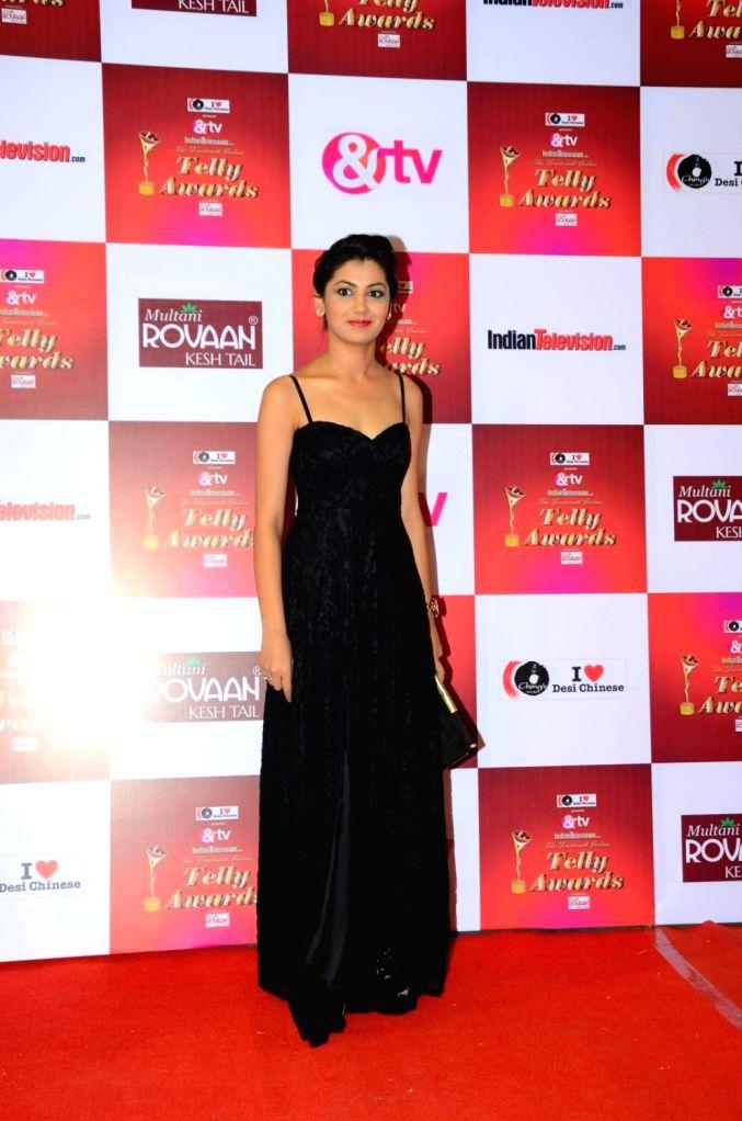 Actress Sriti Jha during the 14th Indian Telly Awards in Mumbai, on Nov 28, 2015. - Sriti Jha