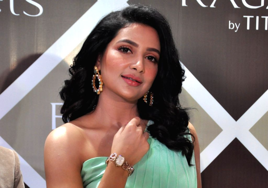 Actress Subhashree Ganguly at the launch of a new collection of Titan watches, in Kolkata on Sep 25, 2019. - Subhashree Ganguly