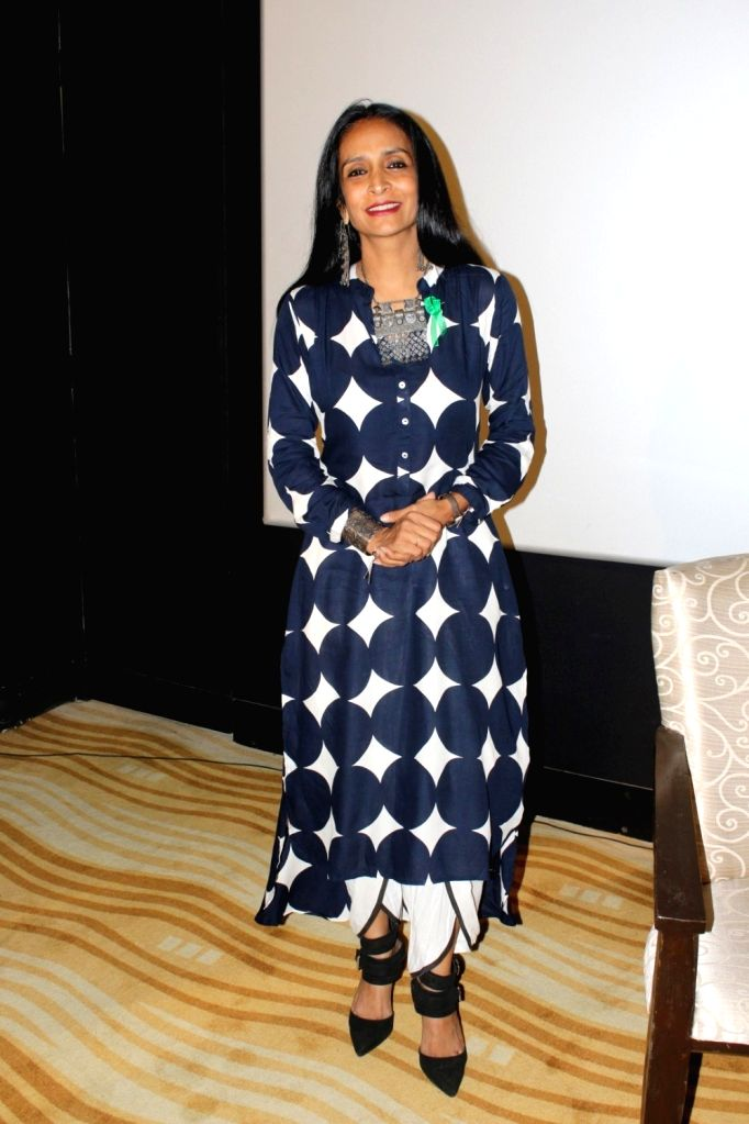 """Actress Suchitra Pillai during the promotion of film """"The Valley"""" in Mumbai on Oct 10, 2017. - Suchitra Pillai"""