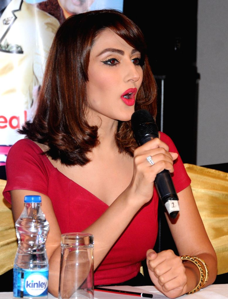 Actress Sudeepa Singh during the promotion of her new reality show `Comedy Superstar` in Amritsar, on Aug 18, 2015. - Sudeepa Singh