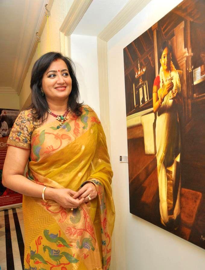 "Actress Sumalatha during ""Phenomenal Women That's Me"" - a Five-Day Long Art Show in Bangalore on June 19, 2014. - Sumalatha"