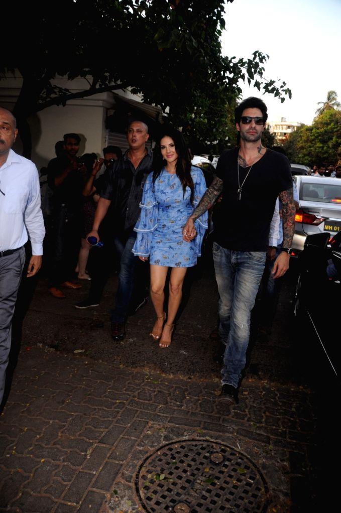 Actress Sunny Leone along with her husband Daniel Weber during the tree plantation drive organised by Municipal Corporation of Greater Mumbai (MCGM) and Bhamla foundation in Mumbai, on May ... - Sunny Leone