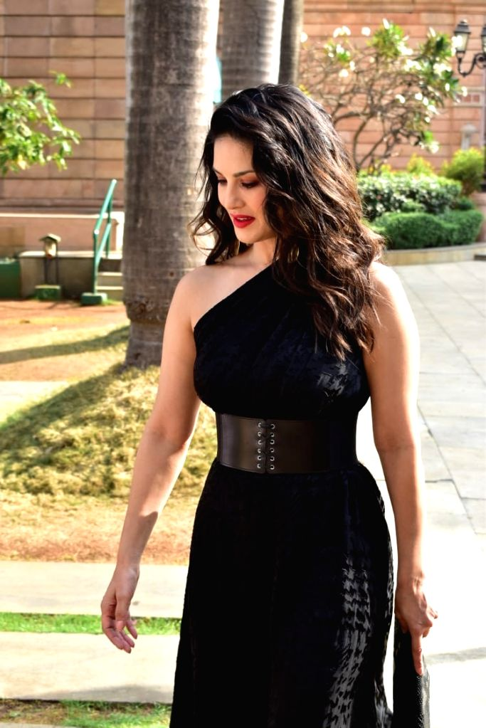 Actress Sunny Leone at the launch of a gaming website in Mumbai, on March 12, 2019. - Sunny Leone