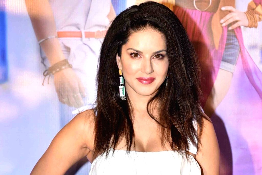 """Actress Sunny Leone at the launch of her song """"Hollywood Wale Nakhre"""" in Mumbai, on Feb 15, 2019. - Sunny Leone"""