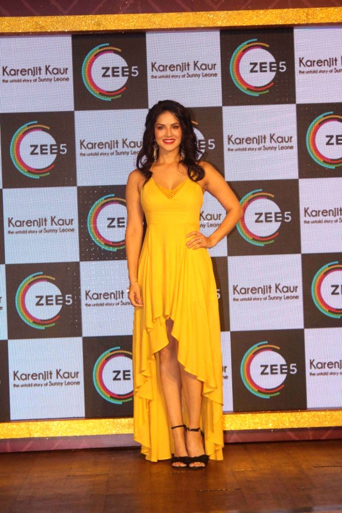 Actress Sunny Leone at the launch of web series titled Karenjit Kaur: The Untold Story Of Sunny Leone in Mumbai on July 9, 2018. - Sunny Leone and Karenjit Kaur