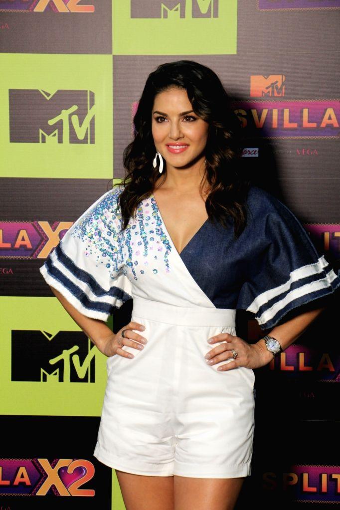 Actress Sunny Leone during a programme on MTV SplitsVilla in Mumbai, on July 17, 2019. - Sunny Leone