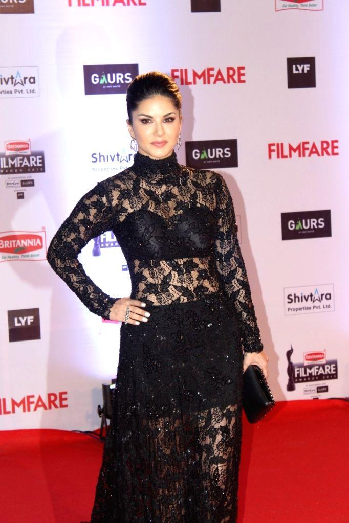 Actress Sunny Leone during the 61st Britannia Filmfare Awards in Mumbai on January 15, 2016. - Sunny Leone