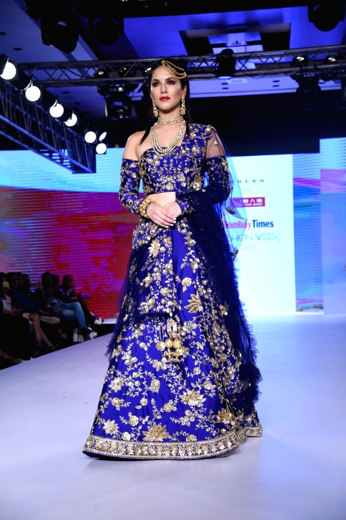 Actress Sunny Leone during the Bombay Times Fashion Week in Mumbai on Sept 9, 2017. - Sunny Leone