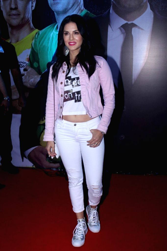 "Actress Sunny Leone during the grand launch of ""Premier Futsal Season 2 Feat"" in Mumbai on Sept 15, 2017. - Sunny Leone"