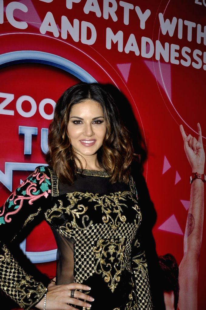Actress Sunny Leone during the promotion of film Mastizaade in Mumbai. - Sunny Leone