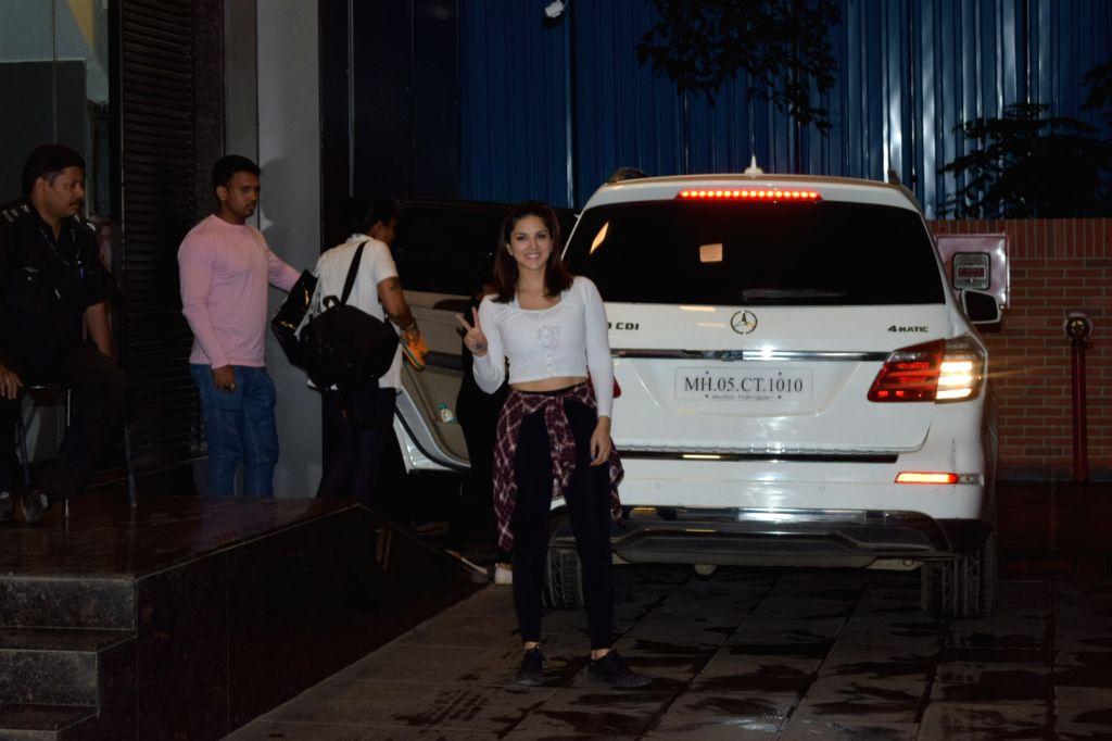 Actress Sunny Leone seen at Juhu in Mumbai on Nov 7, 2019. - Sunny Leone