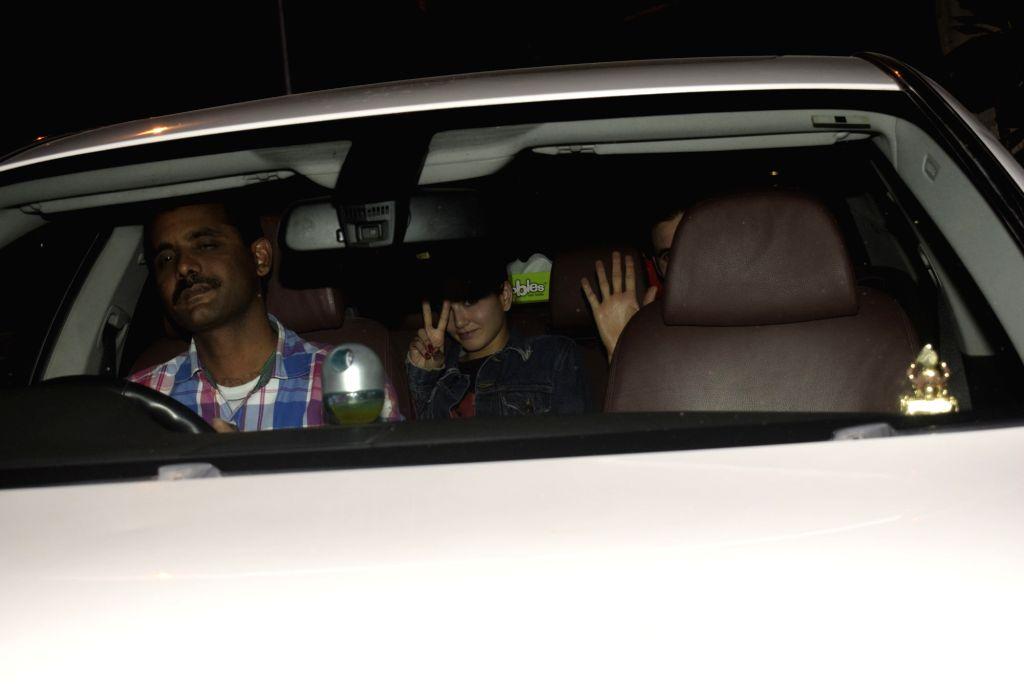 Actress Sunny Leone spotted at Myrah Spa in Juhu in Mumbai on Feb 13, 2019. - Sunny Leone