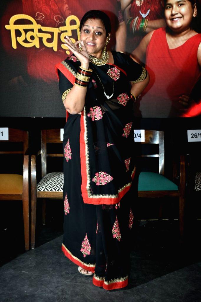 "Actress Supriya Pathak during a press conference to promote her upcoming television show ""Khichdi"" in Mumbai on April 3, 2018. - Supriya Pathak"