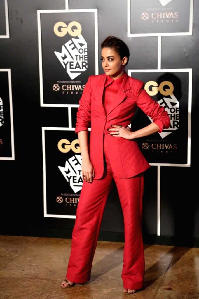 Actress Surveen Chawla during the GQ India Men of the year Award 2016 ceremony, in Mumbai, on Sept 27, 2016. - Surveen Chawla