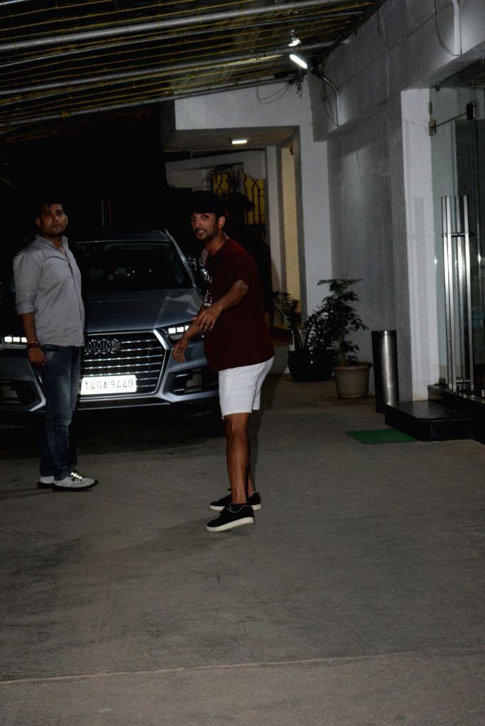Actress Sushant Singh Rajput seen at a sound studio in Mumbai, on June 3, 2019. - Sushant Singh Rajput