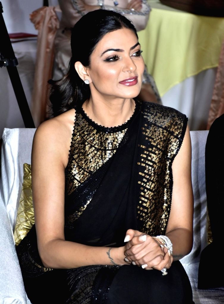 Actress Sushmita Sen during an interactive session organised by FICCI Ladies Organisation (FLO) on the occasion of Mother's Day, in Amritsar on May 11, 2019. - Sushmita Sen