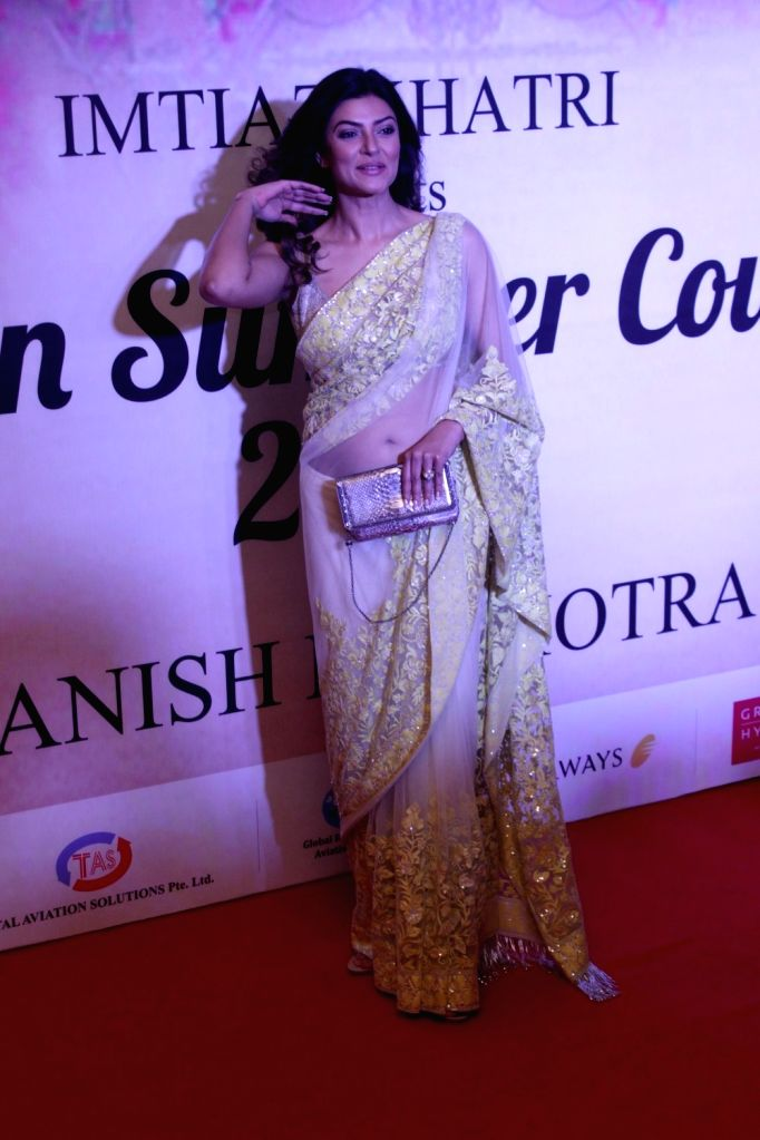 Actress Sushmita Sen during the Mijwan Summer 2017 fashion show during the Mijwan Summer 2017 fashion show in Mumbai on March 5, 2017. - Sushmita Sen