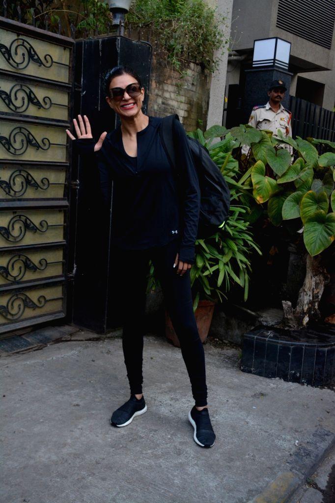 Actress Sushmita Sen seen at Bandra, Mumbai on Dec 10, 2018. - Sushmita Sen