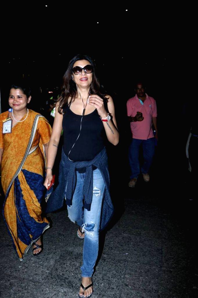 Actress Sushmita Sen spotted at airport in Mumbai on June 9, 2017. - Sushmita Sen