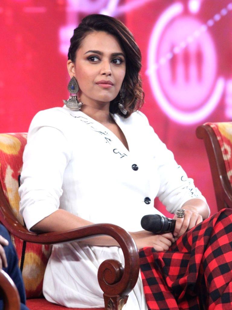 """Actress Swara Bhaskar at """"NDTV Yuva 2018"""", in New Delhi on Sept 16, 2018. - Swara Bhaskar"""