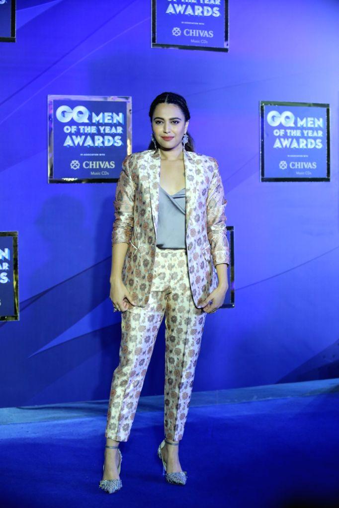 "Actress Swara Bhaskar at the ""GQ Men of the Year Awards 2019"" in Mumbai on Sep 28, 2019. - Swara Bhaskar"