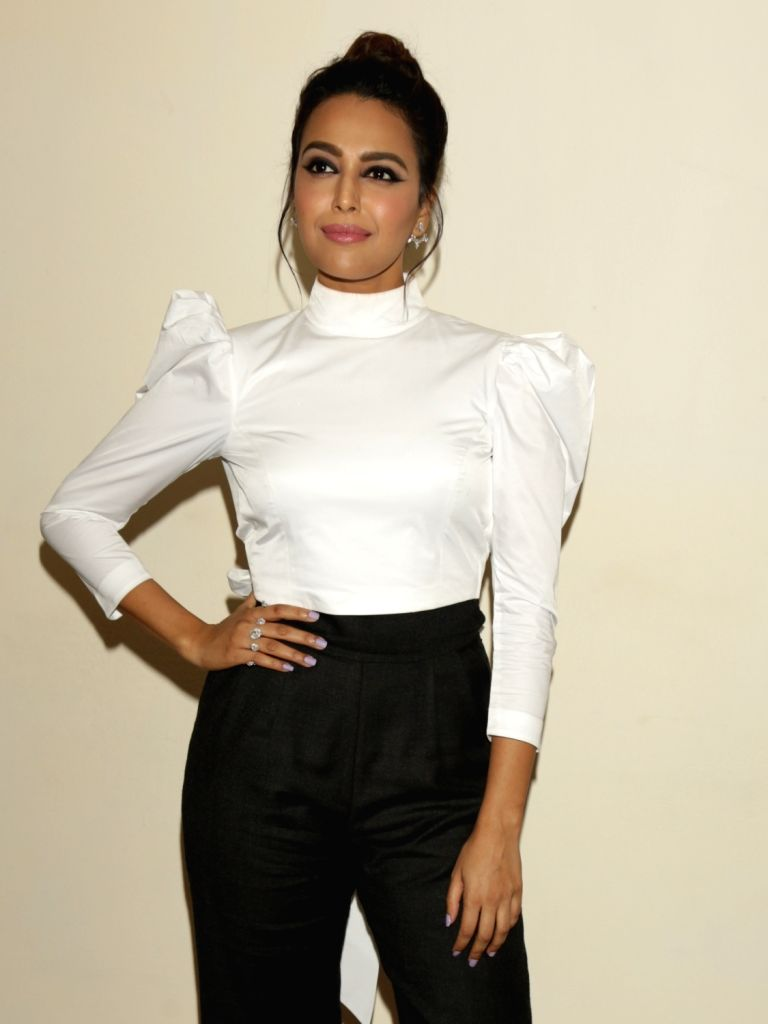 "Actress Swara Bhaskar during a press conference organised to promote their upcoming film ""Veere Di Wedding"" in New Delhi, on May 25, 2018. - Swara Bhaskar"