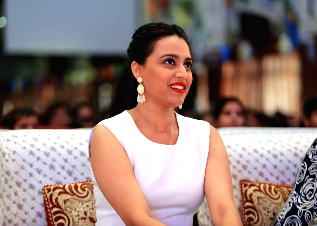 Actress Swara Bhaskar during a programme in Lucknow on April 13, 2016. - Swara Bhaskar