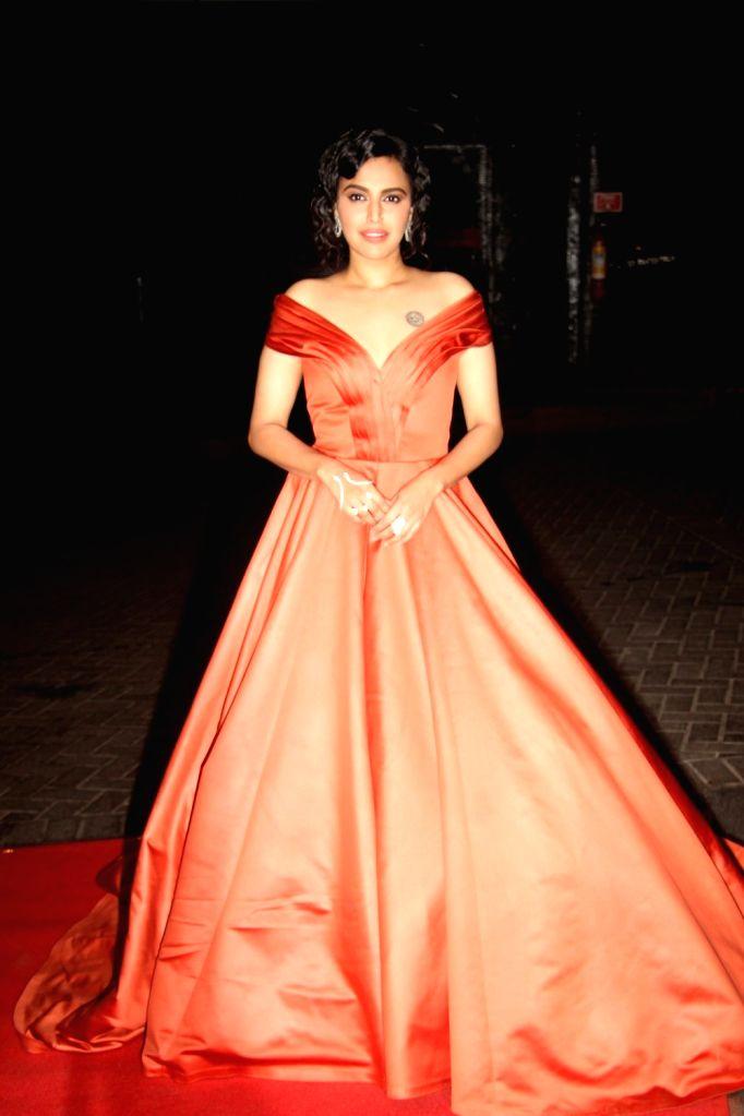 Actress Swara Bhaskar during the 3rd Edition of Nykaa Femina Beauty Awards 2017 in Mumbai on March 15, 2017. - Swara Bhaskar