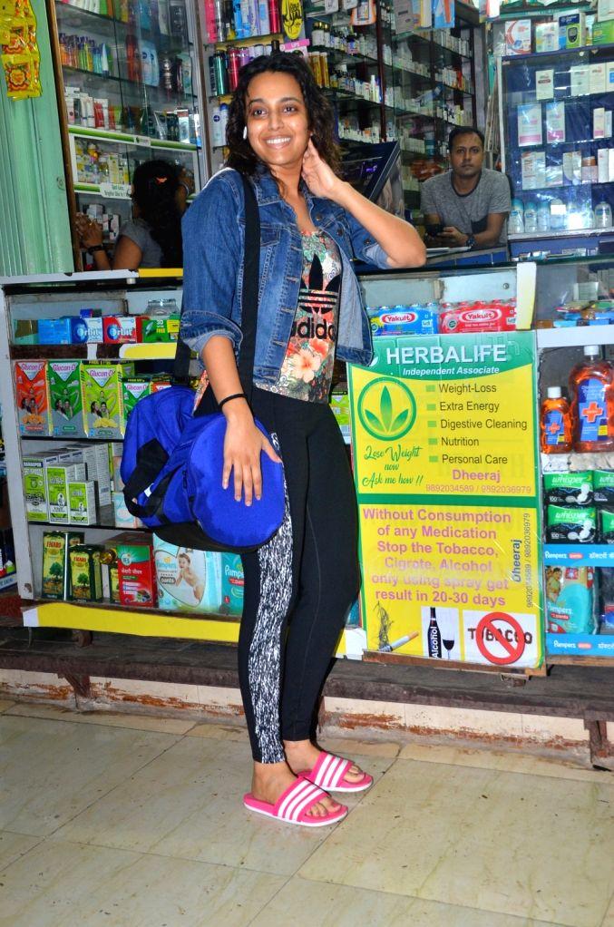 Actress Swara Bhaskar seen at Mumbai's Juhu, on July 29, 2019. - Swara Bhaskar